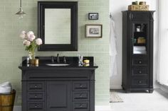 Buy the Ronbow Antique Black Direct. Shop for the Ronbow Antique Black Torino Single Vanity Cabinet Only - Less Vanity Top and save. Single Bathroom Vanity, Traditional Bathroom, Timeless Bathroom, Country Bathroom, Vanity, Contemporary Master Bathroom, Ronbow, Bathroom Vanity, Bathroom Design