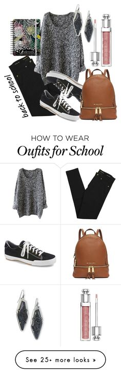 """""""Back to School Basics"""" by sonyastyle on Polyvore featuring Yves Saint Laurent, Keds, Kendra Scott, Christian Dior, Sakroots, BackToSchool, polyvoreeditorial and polyvorecontest"""