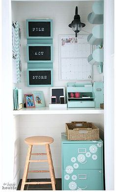 Small desk like this in the mudroom area