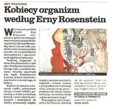 """2013.05.17 Głos Wielkopolski: """"Erna Rosenstein. Organizm."""""""
