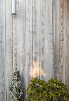 Our MURASAKI shou sugi ban exterior siding installed on a California residence