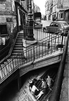 escalier rue vilin (steps, rue vilin), paris, 1959 © willy ronis, from willy ronis