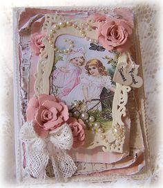 Inspiration:Handmade Valentine Rose Garden Card for The Shabby Tea Room...Stunning!