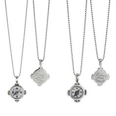 Silver compass necklace with custom engraved message - great graduation gift. #gradgift @Luvocracy