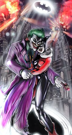 sexy Harley Quinn und Joker