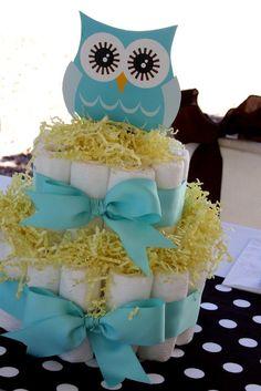 baby owl diaper cake etc o.O