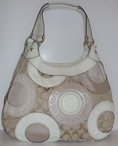 COACH 18824 GRAY SILVER SOHO MEDIUM PATCHWORK HOBO TOTE NWT + FREE GIFT Buy for $190