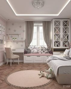 The Best in Girl's Bedroom Design and Decor! kidsdecoratingideas girlbedroom girlsbedroom girlsbedroominspo girlsbedroomdecor girlsbedroomdesign homedecor kidsrooms girlsrooms girlsroom is part of Girl bedroom designs - Kids Bedroom Designs, Cute Bedroom Ideas, Kids Room Design, Home Design, Design Ideas, Ideas For Bedrooms, Stylish Bedroom, Modern Bedroom, Contemporary Bedroom