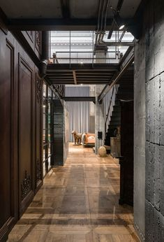 Loft Interior Design, Loft Design, Industrial House, Industrial Interiors, Contemporary Architecture, Interior Architecture, Building Architecture, Amazing Architecture, Loft Interiors