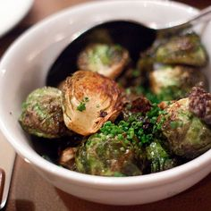 Duck fat roasted Brussels Sprouts by tinyurbankitchen, via Flickr