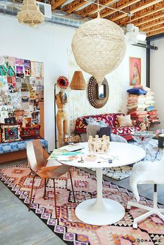 exclusive the jungalow s l a office is a boho feast for the eyes