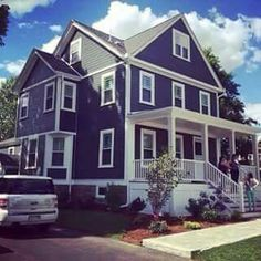 I wish I could get away with painting my house purple...