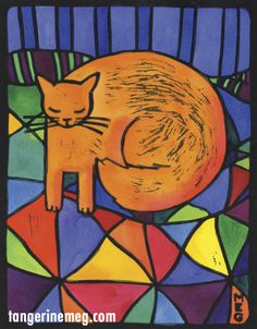 Losing Orange Cat - Tangerine Meg