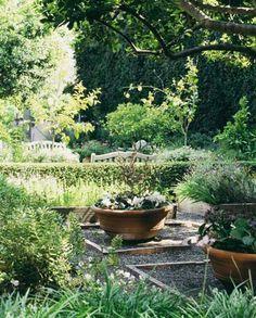 Herb garden at Hotel Bel-Air