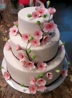 cakes using cherry blossom decorations   Cherry Blossom Cake - Cake Decorating Community - Cakes We Bake