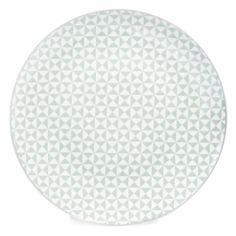 ✔️ acheté  Assiette plate en porcelaine vert d'eau D 27 cm GÉOMÉTRIK   - Vendu par 6