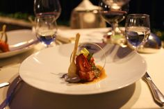 Steamed Slipper Lobster with an edible spoon at Rosselinis, Ravello