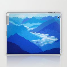 Blue Mountains Laptop & iPad Skin by Annette Jimerson - $25.00