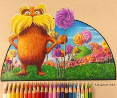 https://flic.kr/p/QfBoT3 | Drawing the Lorax | Ambidextrous Art | It's my two handed drawing of The Lorax. Watch the drawing process: https://youtu.be/CcidJVnj7jM  #thelorax #drseuss #drawing #ambidexterity #art