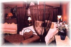 king canopy bed drapes | The 1891 Castle Inn of New Orleans Bed and Breakfast , B & B ... Canopy Bed Drapes, Curtains, Bed And Breakfast, Castle, King, Room, House, Home Decor, Bedroom