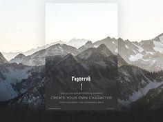 Ragnerok website redesign designed by Radoslav Bali. Website Design Layout, Web Design Tips, 2020 Design, Page Design, Layout Design, Create Your Own Character, Ads Creative, Digital Painting Tutorials, Photography Lessons