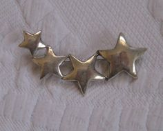 Beautifully sterling starburst brooch  -  excellent vintage condition  *MARKED: 925