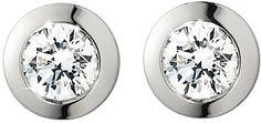 Georg Jensen Solitare white gold diamond earrings on shopstyle.com