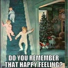 Children excited on Christmas morning