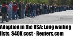 Adoption in the USA: Long waiting lists, $40K cost-Reuters.com #adoptioncosts