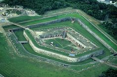 Fort Macon in Atlantic Beach, NC.  A perfect day trip from Beaufort, North Carolina.  (Photo by Airphoto)