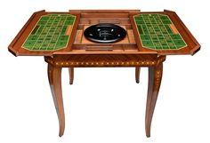 Magnífica mesa de jogos confeccionada em madeira nobre ..