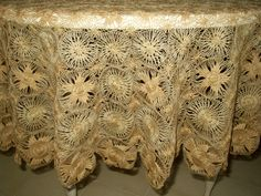 A beautiful Tenerife tablecloth.  Search http://www.the-gatherings-antique-vintage.net