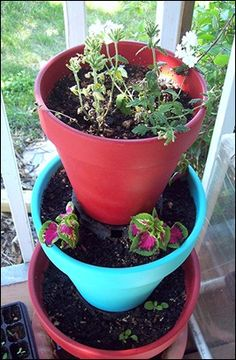 New ideas for old flower pots