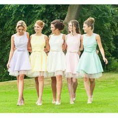 Short Bridesmaid Dresses Floor Length Pst394 on Luulla