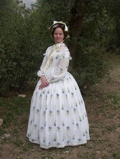 This woman makes all her clothes and costumes! A Sheer 1860s Dress