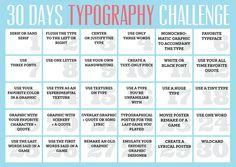 30 days typography challenge!