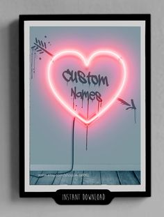 CUSTOM Valentines Day Gifts for Him Her Printable Name by ArteRKL