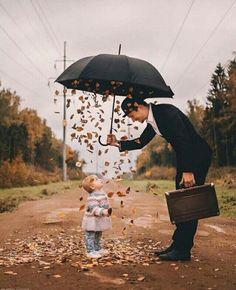 Pluie d'automne !! Sparkles or pretty stuff for kids?