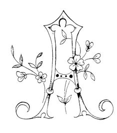 Initiales - Broderie d'Antan