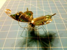 Glow-in-the-dark Cyber-biotic butterfly