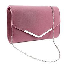 New Trending Shopper Bags: Anladia Velvet Curved Envelope Clutch Flap Structured Bag Topped V Bar Women Carry Purse. Anladia Velvet Curved Envelope Clutch Flap Structured Bag Topped V Bar Women Carry Purse  Special Offer: $12.99  122 Reviews Brand New,high quality Dimension: 24*14.5*4.5cm(9.44*5.7*1.88 inch) Long removable silver chain:120cm(47.24 inch) Package: Women clutch x 1