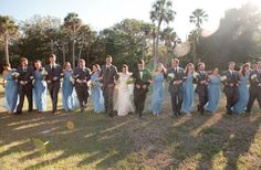 Light blue bridal party // photo by Daylight Photography, planning & design by www.emilygracedesign.com
