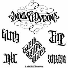 Angels and Demons Ambigrams