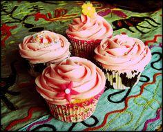 Sweet Flavours: Buttercream de batido de fresa y buttercream de crema de chocolate con avellanas