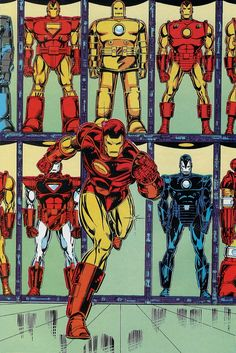 Marvel Fanfare 045 Iron Man armor hall by Bob Layton Comic Book Artists, Comic Book Characters, Marvel Characters, Comic Character, Comic Books Art, Marvel Comics, Heros Comics, Marvel Heroes, Marvel Avengers