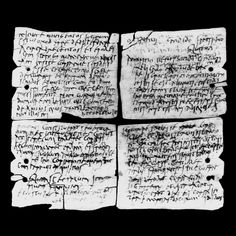 Vindolanda was one of the main military posts on the northern frontier of Britain before the building of Hadrian's Wall. Exacavations there in 1973 uncovered writing tablets that are the oldest surviving handwritten documents in Britain. The tablets are wafer thin slices of wood, written on with carbon ink and quill-type pens.