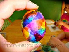 There are so many different ways to dye eggs  for Easter and we are going to do a few of them. Today we covered eggs with tissue pape...