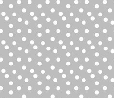 Polka Dots - Slate Grey by Andrea Lauren fabric by andrea_lauren on Spoonflower - custom fabric