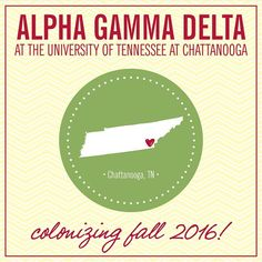 We can't wait to welcome Alpha Gamma Delta to the UTC Greek community next fall! Sigma Kappa loves Alpha Gamma Delta!