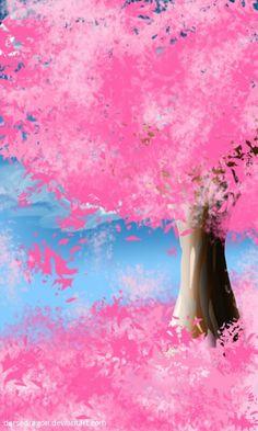 Pink Tree (15mins.) by DerseDragon.deviantart.com on @DeviantArt